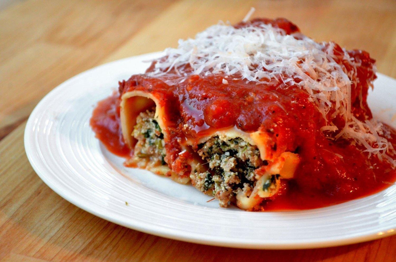 Spinach, Turkey & Ricotta Cannelloni