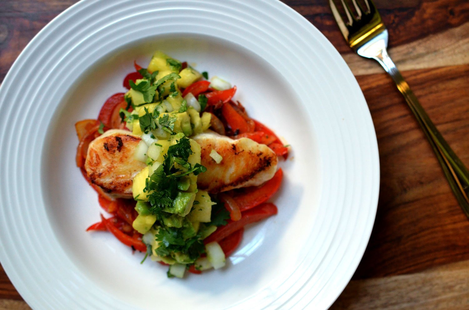 Halibut with Grilled Pineapple Salsa