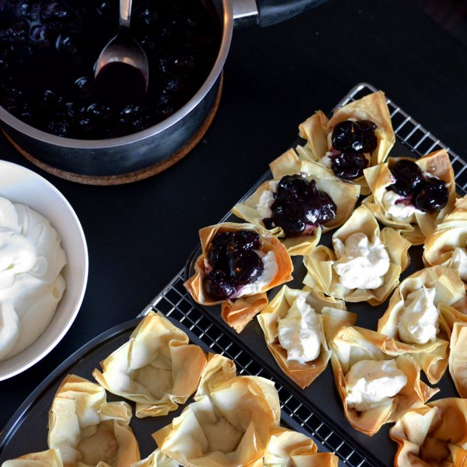 Phyllo Berry Tartlet