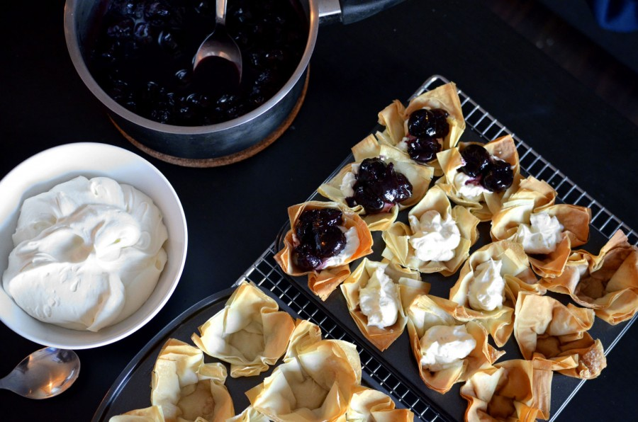 Easy Phyllo Berry Tartlets