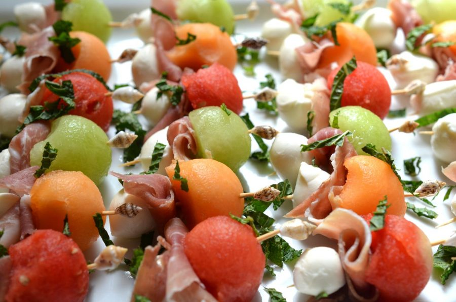 Melon-Mozzarella Skewers