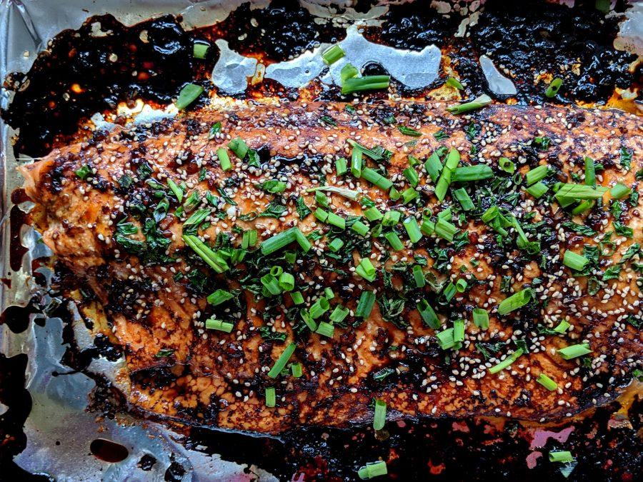 Soy-Sesame Glazed Salmon