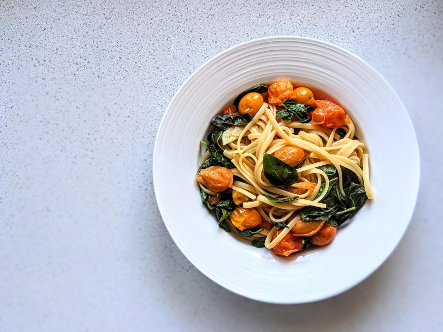Sautéed Tomato & Basil Spaghetti