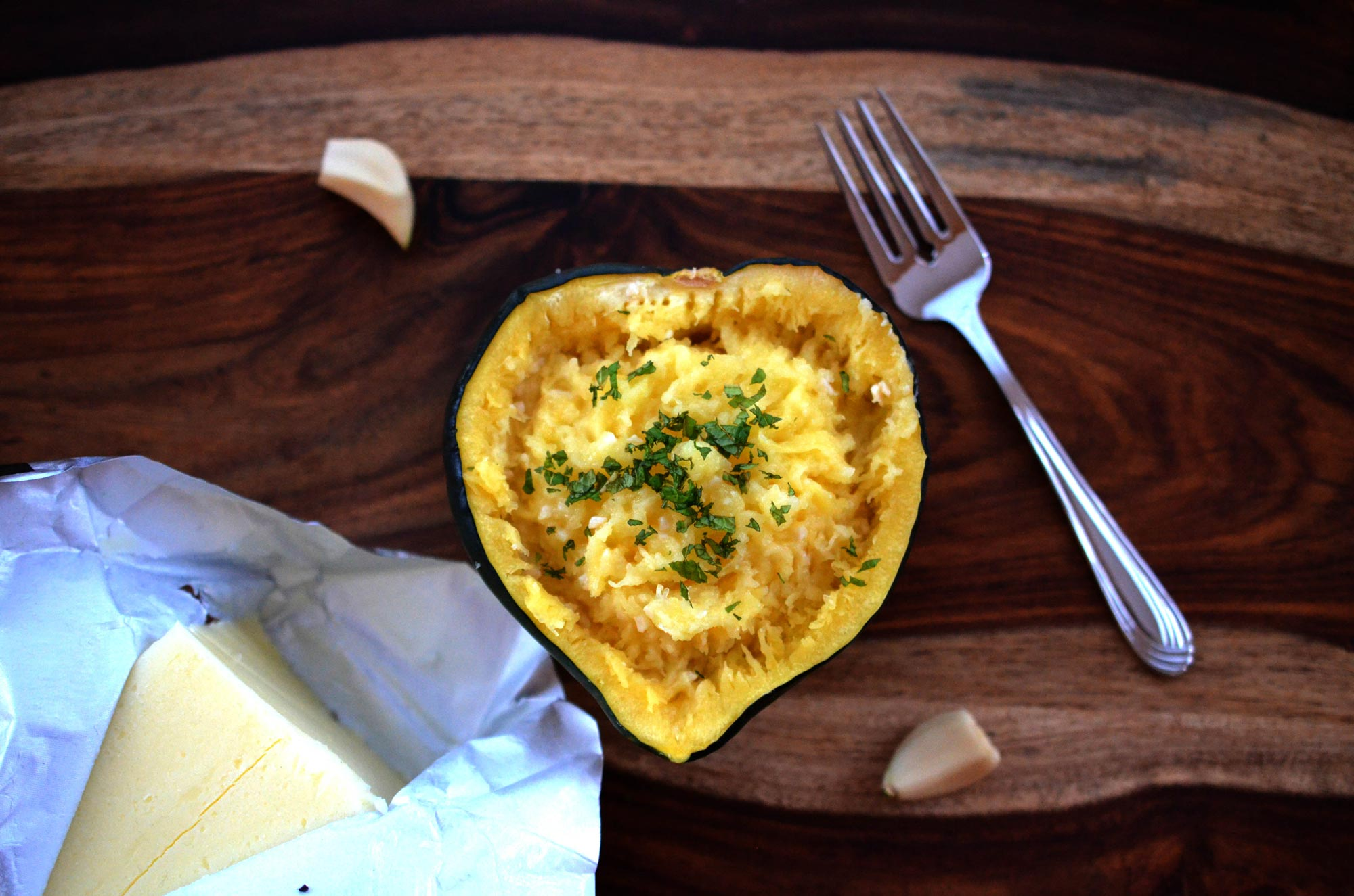 Garlic Acorn Squash