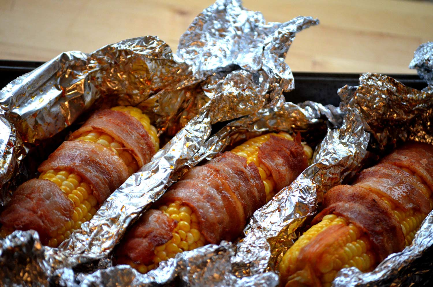 Bacon Wrapped Corn with Smoked Paprika