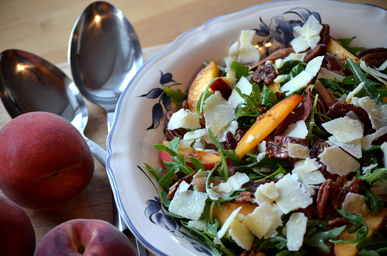Grilled Peach, Prosciutto & Arugula Salad