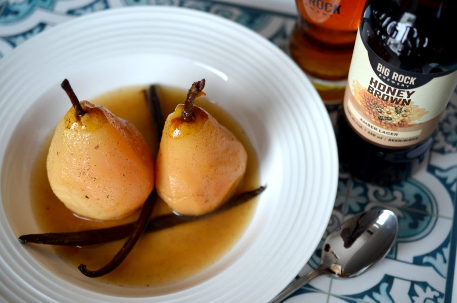 Vanilla Honey Poached Pears