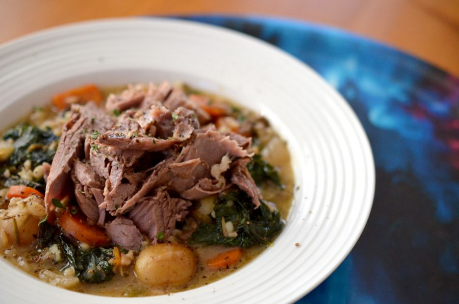 Scottish Leg of Lamb with Barley & Root Vegetables