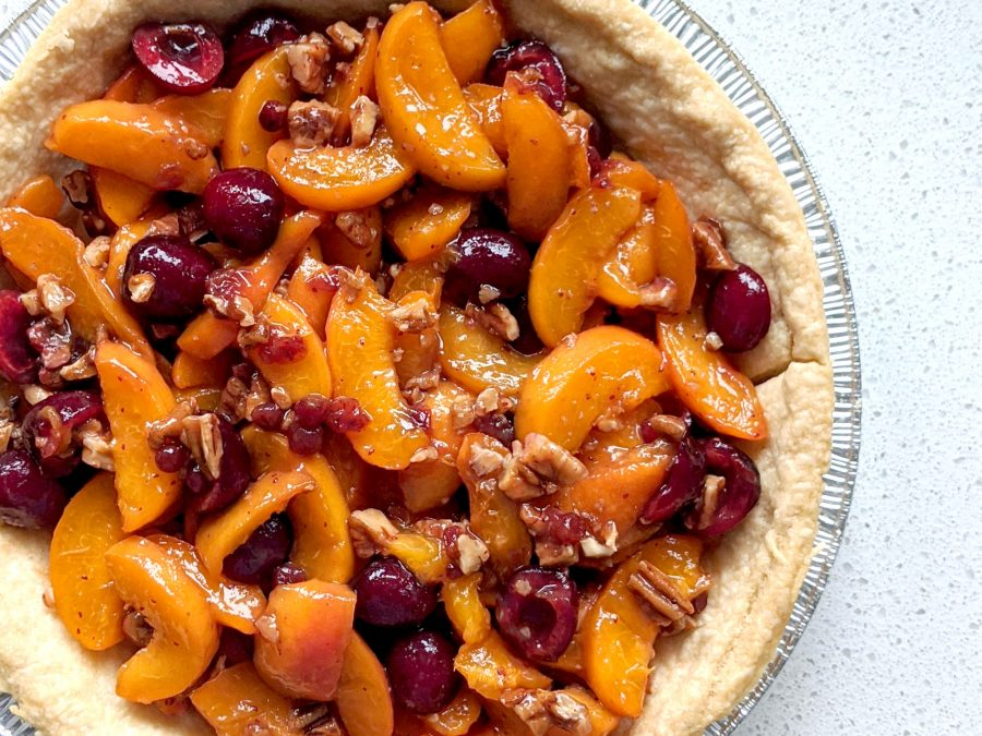 Fresh Apricot Cherry Pie
