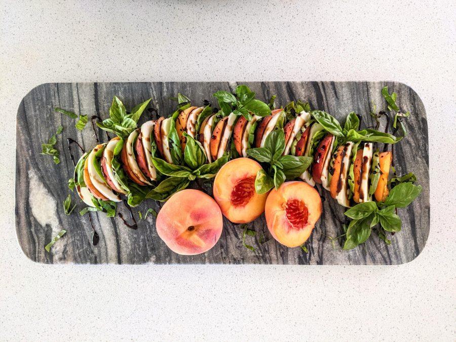 Peach Mozzarella Salad